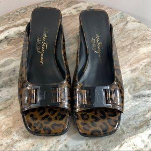 Salvatore Ferragamo Boutique Sandals sz 7 Leopard